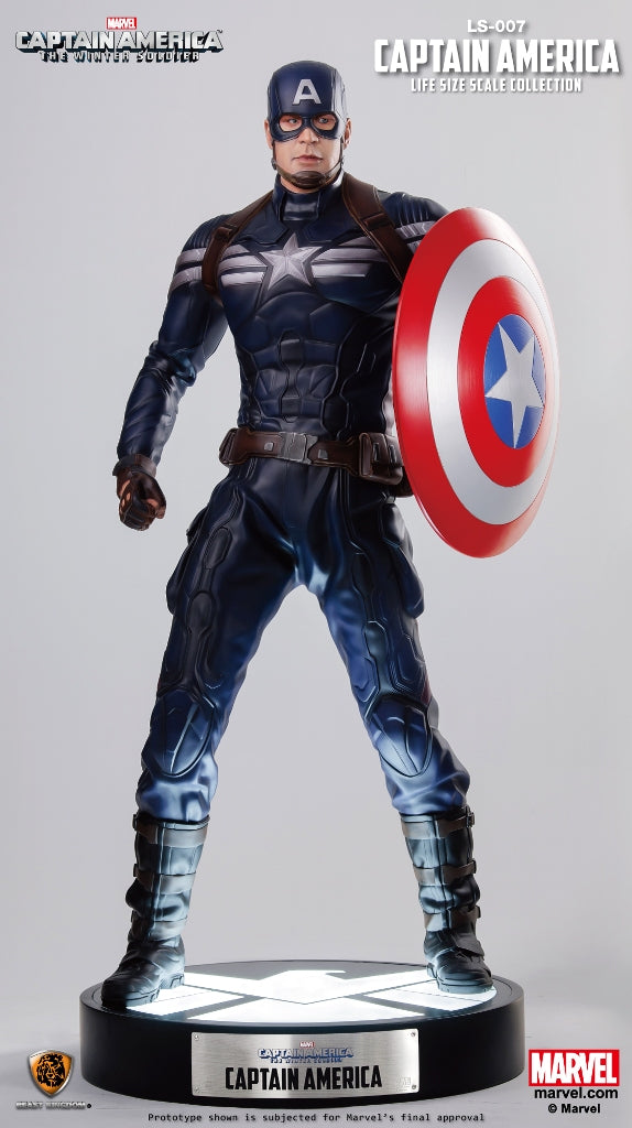 Captain America Life Size Statue - LM Treasures Life Size Statues & Prop Rental