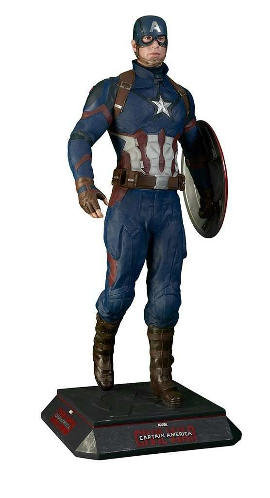Captain America Life Size Statue From Civil War - LM Treasures