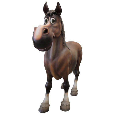 Comic Horse Animal Prop Resin Decor Statue- LM Treasures