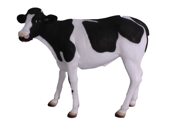Baby Holstein Cow Life Size Statue - LM Treasures