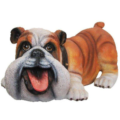 Comic Dog Bulldog Animal Prop Life Size Decor  Resin Statue - LM Treasures Life Size Statues & Prop Rental