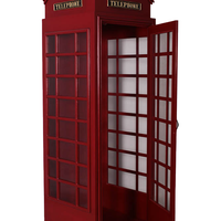British Phone Booth London Prop Resin Decor Statue - LM Treasures Life Size Statues & Prop Rental