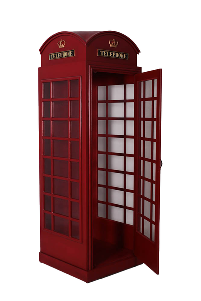 British Phone Booth Life Size Statue - LM Treasures Life Size Statues & Prop Rental