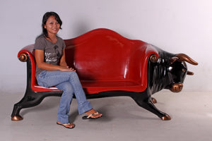 Bull Sofa Life Size Statue - LM Treasures Life Size Statues & Prop Rental