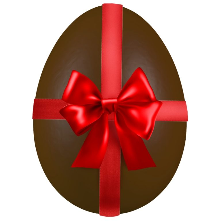 Ribbon Chocolate Easter Egg  Over Sized Statue - LM Treasures