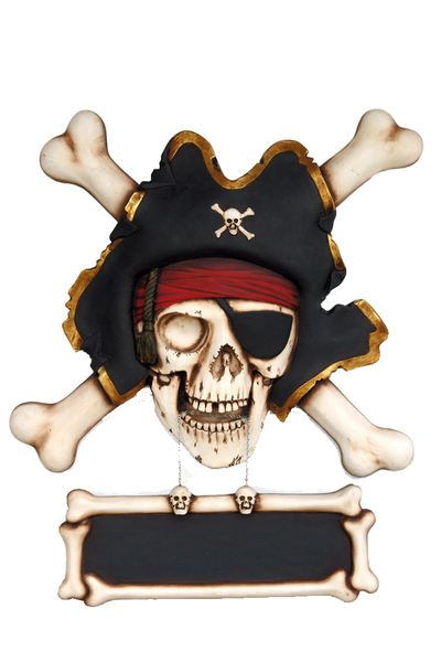 Pirate Skull Cross Bone Sign Statue - LM Treasures Life Size Statues & Prop Rental