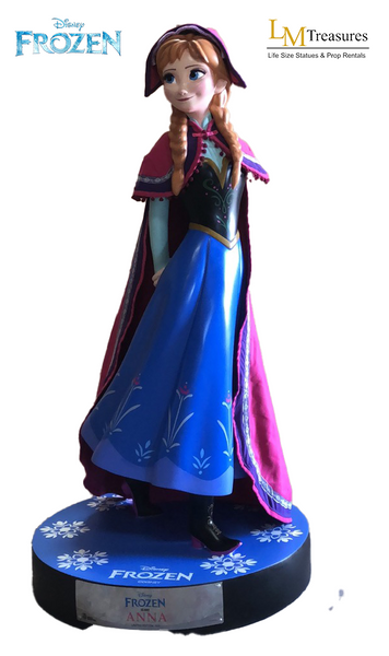 Disney Frozen Anna Life Size Statue - LM Treasures Life Size Statues & Prop Rental
