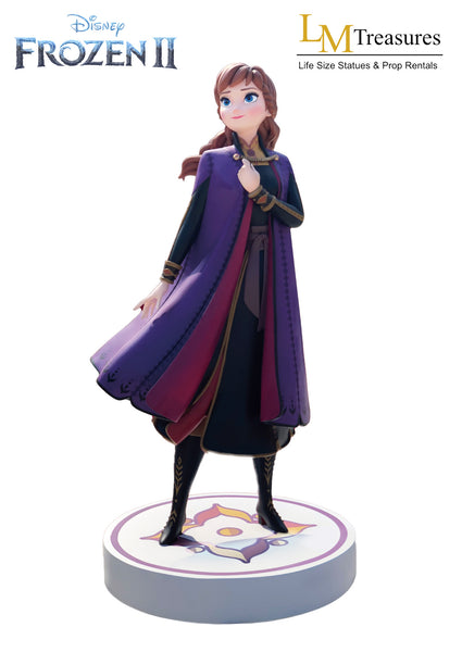 Disney Frozen 2 Anna Life Size Statue - LM Treasures Life Size Statues & Prop Rental
