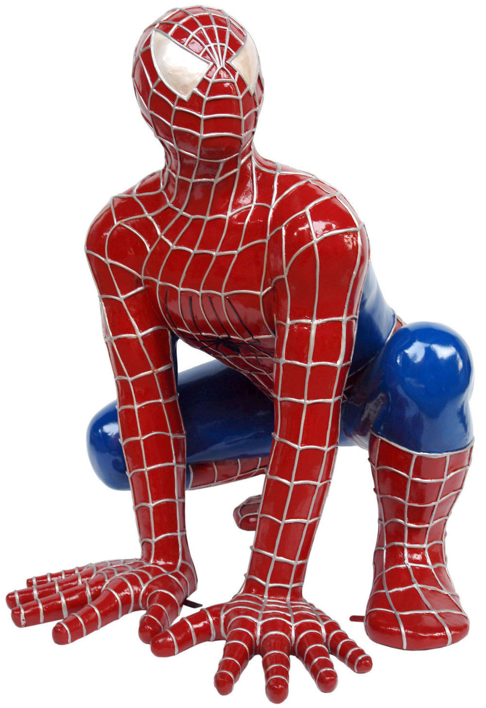 Sticky Super Hero Squatting Life Size Statue - LM Treasures