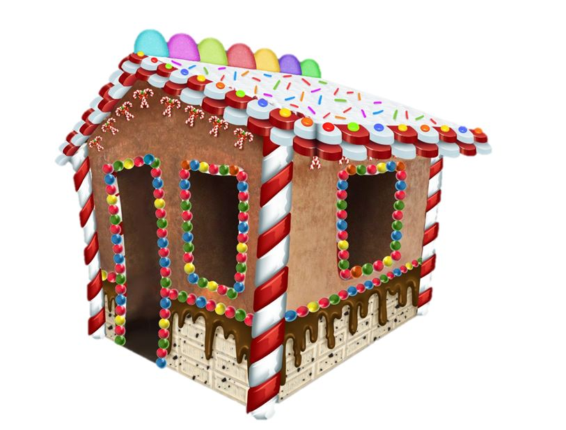 House Gingerbread 3D Walk in - LM Treasures Life Size Statues & Prop Rental