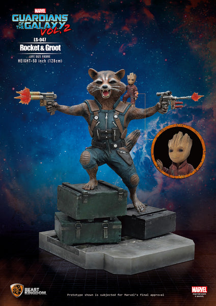 Guardians Of The Galaxy Vol. 2 Rocket & Groot Life Size Statue - LM Treasures Life Size Statues & Prop Rental