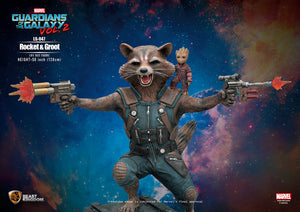 Guardians Of The Galaxy Vol. 2 Rocket & Groot Life Size Statue - LM Treasures