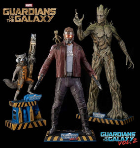 Guardians Of The Galaxy, Vol 2 : Star Lord & Baby Groot Life Size Statue - LM Treasures Life Size Statues & Prop Rental