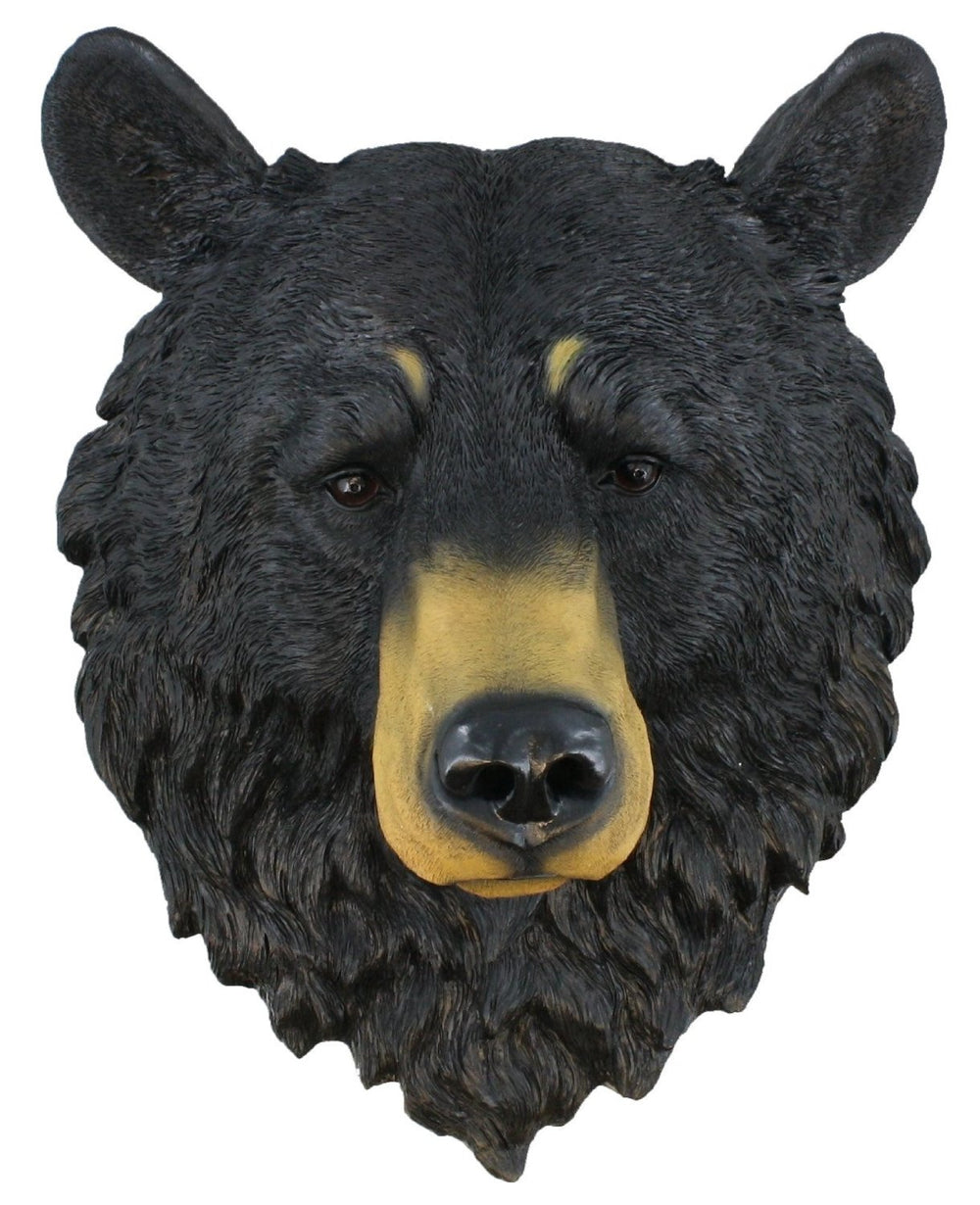 Black Bear Head Life Size Statue - LM Treasures
