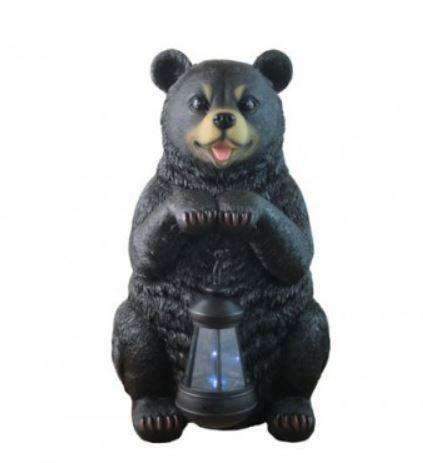 Bear Black Lantern Animal Prop Life Size Decor Resin Statue - LM Treasures