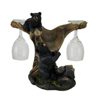 Black Bear Wine Holder Statue - LM Treasures Life Size Statues & Prop Rental