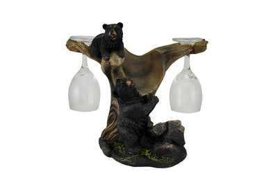Bear Black Wine Holder Forest Prop Life Size Resin Statue - LM Treasures Life Size Statues & Prop Rental