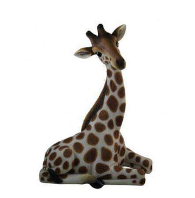 Giraffe Baby Laying Table Top Safari Prop Resin Decor Statue - LM Treasures Life Size Statues & Prop Rental