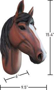 Brown Horse Head Life Size Statue - LM Treasures