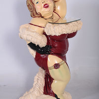 Butler Bordello Lady Prop Restaurant Decor Resin Statue - LM Treasures Life Size Statues & Prop Rental