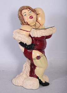 Butler Bordello Lady Prop Restaurant Decor Resin Statue