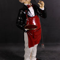 Butler Connoisseur Life Size Restaurant Prop Decor Statue - LM Treasures