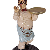 Chef Butler Small Statue - LM Treasures Life Size Statues & Prop Rental