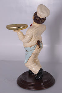 Chef Butler Small Prop Restaurant Decor Resin Statue