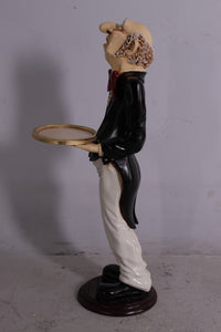 Butler Connoisseur Prop Restaurant Decor Resin Statue - LM Treasures Life Size Statues & Prop Rental