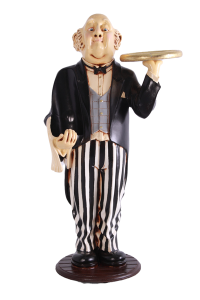Connoisseur Butler Wine Holder Small Statue - LM Treasures Life Size Statues & Prop Rental