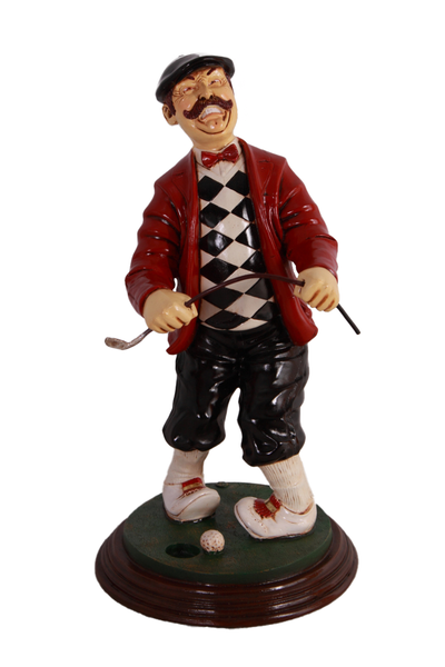 Golfer Frustrated Small Statue - LM Treasures Life Size Statues & Prop Rental