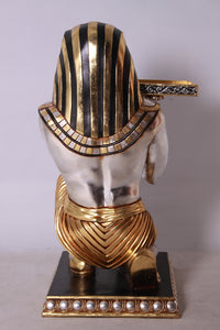 Egyptian Kneeling King Tut Table Life Size Statue - LM Treasures Life Size Statues & Prop Rental