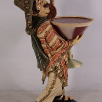 Butler Mexican Cocktail Prop Restaurant Decor Resin Statue
