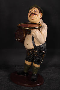 Butler Tiroler German Prop Restaurant Decor Resin Statue - LM Treasures Life Size Statues & Prop Rental