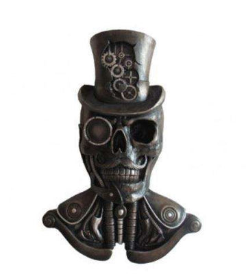 Steampunk Skeleton Bust Wall Decor Prop Statue- LM Treasures