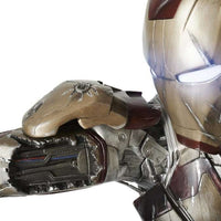 Iron Man 3 (Battle Version) with RDJ Head  Life Size Statue- LM Treasures