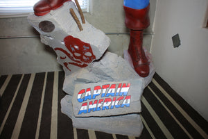 Classic Captain America Life Size Statue Marvel Disney Rubie's - LM Treasures Life Size Statues & Prop Rental