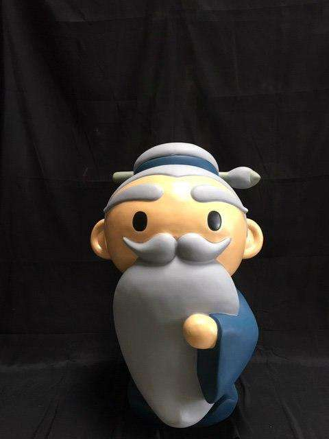 Old Man Avatar Japanese Character Store Display