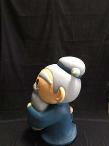 "Old Man Avatar Japanese Character Store Display ""Eyes Open"" - Pre Owned - LM Treasures Life Size Statues & Prop Rental"