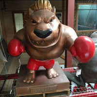 Paulie The GroundHog Boxer Mascot Life Size Statue - Pre Owned- LM Treasures