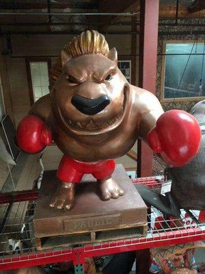 Paulie The GroundHog Boxer Mascot Life Size Statue - Pre Owned