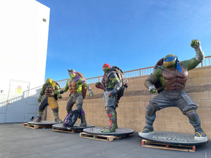 TMNT Teenage Mutant Ninja Turtles Complete set of 4 Life Size Statues 1:1 - LM Treasures