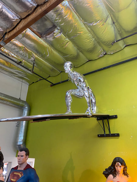 Silver Surfer From Fantastic Four Life Size Statue - LM Treasures Life Size Statues & Prop Rental