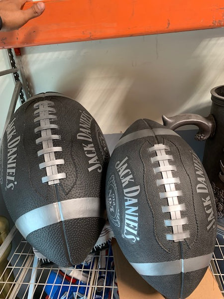 Jack Daniels Medium Football 3 Ft - Pre Owned - LM Treasures Life Size Statues & Prop Rental