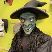 Rare Mechanical Witch W/ Light Up Pot Life Size Statue - LM Treasures Life Size Statues & Prop Rental
