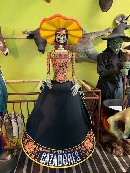 Cazadores Tequila Day Of The Dead Life Size Female Store Display - LM Treasures