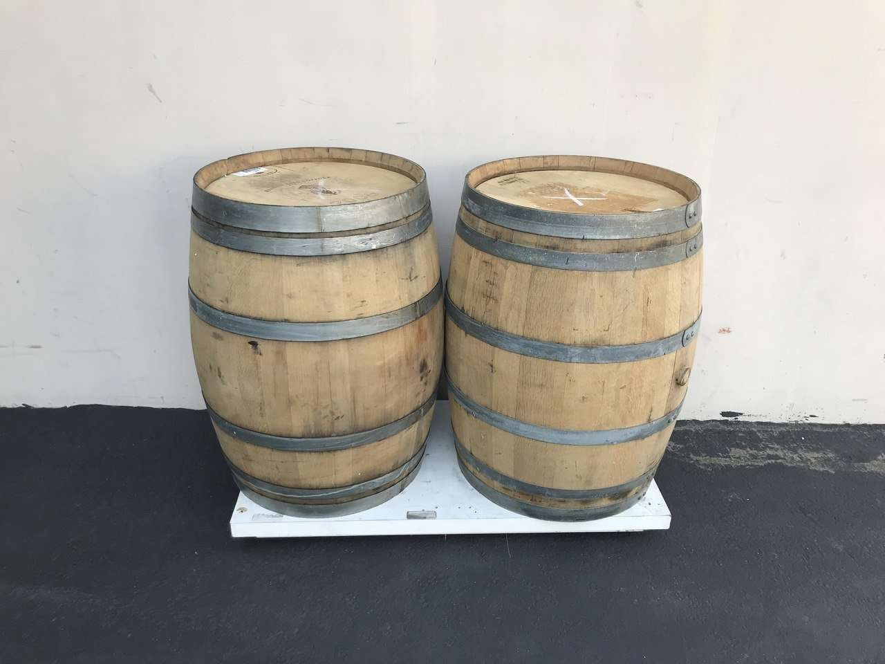 Barrels Wine Statue Life Size Wooden Prop Decor - Pre Owned - LM Treasures