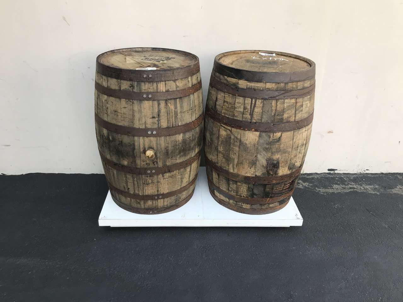 Barrels Whiskey Statue Life Size Wooden Prop Decor - Pre Owned - LM Treasures