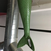 Mermaid Hanging Green Life Size Mythical Prop Decor Resin Statue - LM Treasures Life Size Statues & Prop Rental