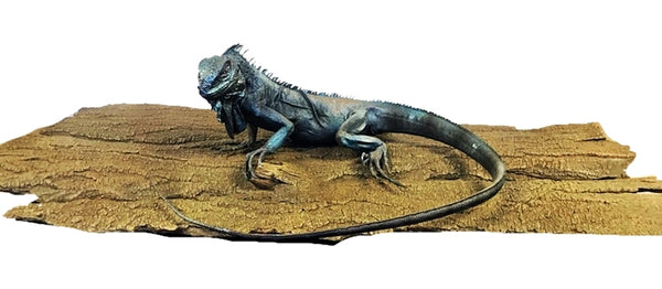 Blue Lizard On Branch Life Size Statue - LM Treasures Life Size Statues & Prop Rental